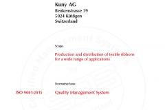 Kuny AG ISO EN